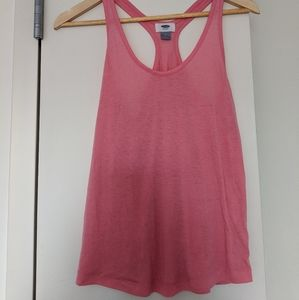 Old Navy Pink Crossback Workout Top